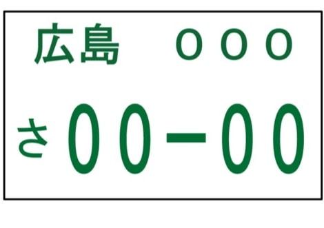 プレート 車 ナンバー